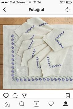 cross stitch border lavender sprigs no pattern no link ideas only - PIPicStats Cross Stitch Borders, Cross Stitching, Hardanger Embroidery, Hand Embroidery, Easy Crochet, Crochet Lace, Bordado Floral, Bargello, Needlework