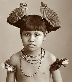 Gorgeous image of an indigenous tribal boy 'Menino Índio', taken in Brazil c. Old Photos, Vintage Photos, Image Couple, Pagan Poetry, Xingu, Indigenous Tribes, Trail Of Tears, Ferrat, Photographs Of People