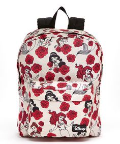 This Pink Disney Princess Roses Backpack is perfect! #zulilyfinds