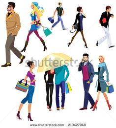 dibujos personas humanas paseando por el bosque - Cerca amb Google
