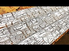 How to Create Cracked / Chipped Paint on New Wood Crackle Painting, Using Acrylic Paint, Diy Painting, Painting On Wood, How To Make Chips, How To Make Paint, Furniture Painting Techniques, Paint Furniture, How To Makr