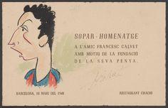 Dibuixos originals d'en Puigmiquel diversos :: Materials gràfics (Biblioteca de Catalunya) Ephemera, Cover, Books, Movie Posters, Art, Art Background, Libros, Book, Film Poster