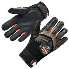 2X Black Anti Vibration Mechanics Work Gloves Protection Builders Gardening DIY