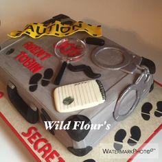 Spy themed cake
