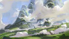Grass&Clouds, Giorgio Grecu on ArtStation at https://www.artstation.com/artwork/9gw9O