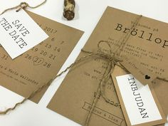 Visby Eko Vintage bröllopskollektion - Bjud in med Elegans Wedding Cards, Diy Wedding, Dream Wedding, Save The Date, Perfect Wedding, Wedding Planning, Wedding Decorations, Dating, Place Card Holders