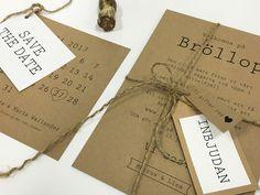 save-the-date-kort-med-kalender spara datumet bröllopsinbjudningar kraftpapper
