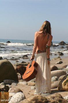 thats just gorgeous! the beach the skirt the guitar and to be so free..........love!!!!!!!!!!!