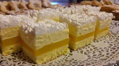 Hungarian Desserts, Romanian Desserts, Hungarian Recipes, Cake Recipes, Dessert Recipes, Cake Bars, Sweet Desserts, Miniature Food, Cake Cookies