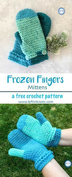Take out one skein of yarn and make a pair of beautiful, warm mittens to add to your gifting stash! The Frozen Fingers Mittens are a fast, simple and free crochet pattern and will keep your hands warm all fall and winter. #crochet #freecrochetpattern #crochetmittens