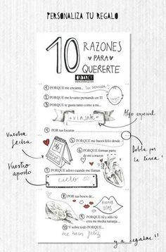 20 Valentine's Day Printables in Spanish Love Gifts, Gifts For Him, Diy Gifts, Birthday Gifts For Boyfriend, Boyfriend Gifts, Ideas Aniversario, Christian Grey, Just In Case, Boyfriend Gift Ideas