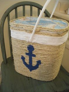 Reduce, Reuse, Renewed: Anchor Tote -- Pinterest Inspired
