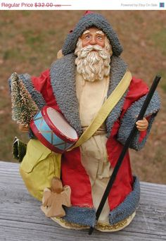Wow Spring Sale Clothique Vintage Santa by TreasureofMemories