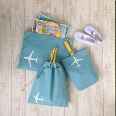 飛行機/ターコイズ/3点セット - ☆ Green Porter ☆