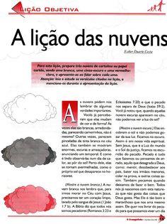 Pequeninos de Jesus: Lição objetiva: A lição das nuvens - APEC