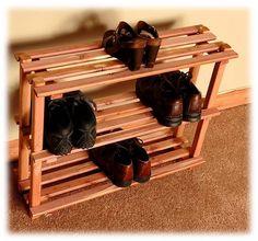 cedar 3 tier shoe rack pallet shoe racksdiy