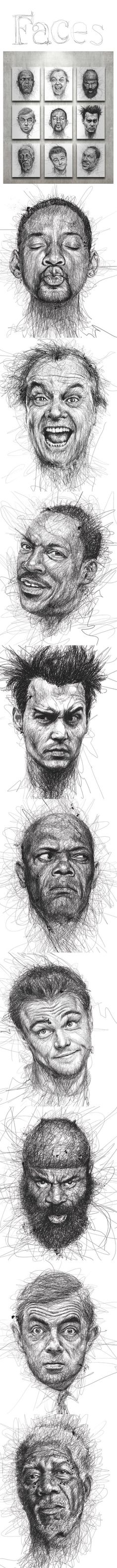 Faces by Vince Low - Gestural: