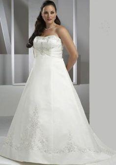 une ligne-bustier en satin train chapelle, plus robe de mariée taille