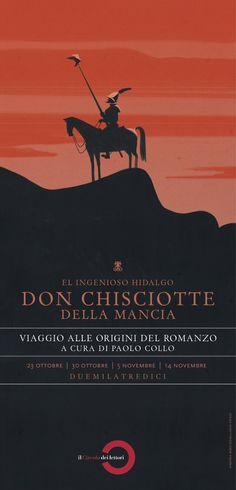Quattro appassionati lettori, in altrettanti appuntamenti, raccontano l'amore per il capolavoro spagnolo. / Illustrazione di Emiliano Ponzi / http://www.circololettori.it/donchisciotte/