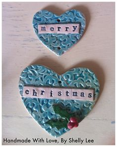 Christmas Ceramic Heart Decoration £5.00