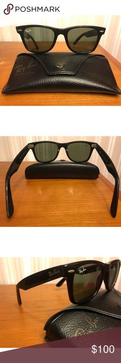 Vintage Ray-Ban Wayfarer Sunglasses Vintage Ray-Ban. No dramatic scratches but there is some wear from age. Overall in pretty good condition for being vintage. Please make me an offer 💕 Ray-Ban Accessories Sunglasses
