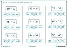 ficha de suma y resta para 3 de primaria para imprimir - Resultados de : Yahoo España en la búsqueda de imágenes