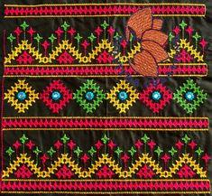 Embroidery On Kurtis, Kurti Embroidery Design, Hand Embroidery Dress, Embroidery Neck Designs, Hand Embroidery Videos, Hand Embroidery Tutorial, Embroidery Flowers Pattern, Embroidery Works, Hand Embroidery Stitches