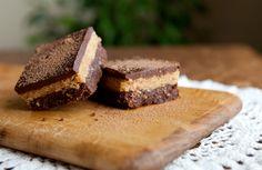 Raw Chocolate Peanut-Butter Bars