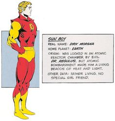 Sun Boy of the Legion of Super-Heroes by Dave Cockrum.