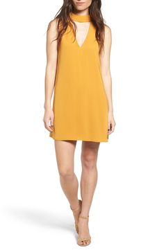 Cream and Sugar Cutout Front Mock Neck Shift Dress available at #Nordstrom