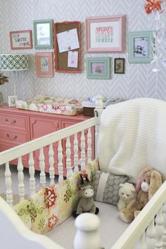 Looking for beautiful nursery ideas? I& rounded up 10 Beautiful Nursery Inspirations to get those creative juices flowing. Baby Bedroom, Nursery Room, Girl Nursery, Girl Room, Girls Bedroom, Nursery Decor, Baby Bedding, Nursery Ideas, Nursery Gray