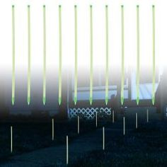 @Overstock - Illuminate your flower beds or mark your walkways with the Glow in the Dark Path Marker Rods by TerraTrade. Ten plastic path markers allow you to configure your path markers where you want them.http://www.overstock.com/Home-Garden/TerraTrade-Glow-in-the-dark-Rod-Path-Markers-Set-of-10/6825007/product.html?CID=214117 $9.99