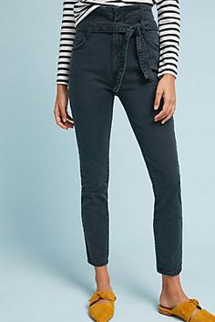 Current/Elliott The Stiletto Ultra High-Rise Skinny Cropped Jeans