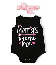 f97f0d3df763 Doding Newborn Baby Girls Infant Sleeveless Rompers Jumpsuit Bodysuit  Outfits Clothes with Headband