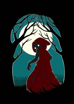 """Red Riding Hood 2"" by Indre Bankauskaite.  Discover more spooky prints at www.imagekind.com!"