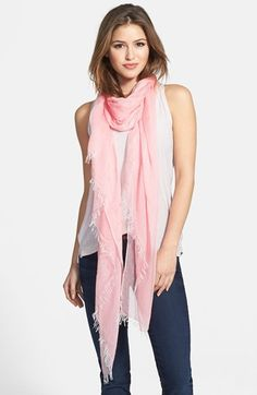 """Nordstrom Modal Silk Blend Scarf available at #Nordstrom 44"""" x 80""""; 1"""" fringe. 90% modal, 10% silk. Dry clean."""