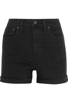 MADEWELL High Riser Stretch-Denim Shorts. #madewell #cloth #shorts