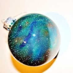 got enough Space on your Christmas tree? check out these hand-painted galaxy ornaments on Etsy: makebakebike.etsy.com #EtsyGifts #Christmas