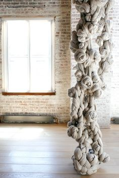 Textile designer and artist Dana Barnes.Her latest work, UNSPUN: Tangled and Fused experiments with unspun natural fibers and innovative felting processes.    Read more at Design Milk: http://design-milk.com/dana-barnes/#ixzz1lQRIik1n