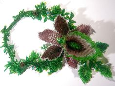 Have You Ever Seed Your Beads Orchid Necklace created for the EBWS April challenge