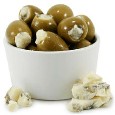 blue cheese stuffed olives...yummy!