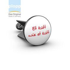plopp Waschbeckenstöpsel  Et kütt wie et kütt  #Köln #Koeln #Kölsch #Living #Badezimmer #Bad #Geschenkidee