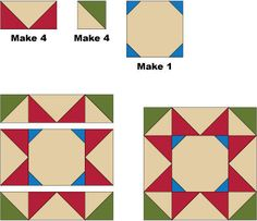 Rolling Stars Quilt Block Pattern