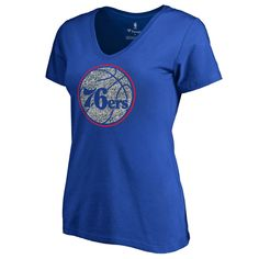 f78ce33ba Women s Fanatics Branded Royal Philadelphia 76ers Static Logo Plus Size V-Neck  T-Shirt