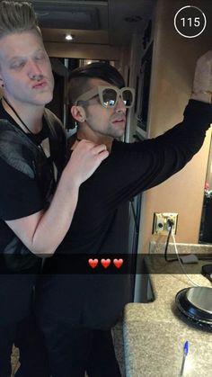Scomiche Scott Hoying and Mitch Grassi Posted by: Pentatonix Snapchat ID: ptxsnap