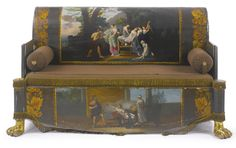 An Italian neoclassical parcel-gilt and polychrome-painted sofa<br>first quarter 19th century | lot | Sotheby's