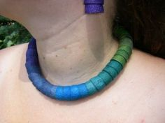 Silk Cocoon Graduated Colors Necklace
