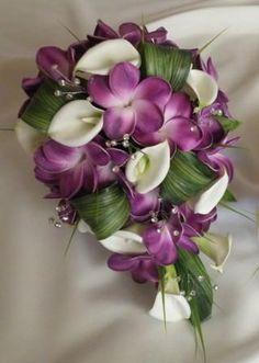 Artifical Frangipani Bousuet, purple