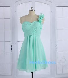 Mint Bridesmaid DressMint One Shoulder  Dress Mint by HelloDress, $85.00