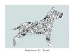 Akita dog print – Louise Tate Illustration